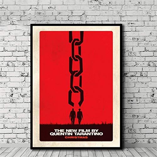 Amokr Leinwand Bilder 60x80cm kein Rahmen Django Unchained Movie Poster Leinwand Malerei Druck Home Decoration Wandkunst Dekor