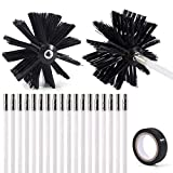 21-Piece 24 Feet Dryer Vent/Duct Brush Cleaning Kit Chimney...