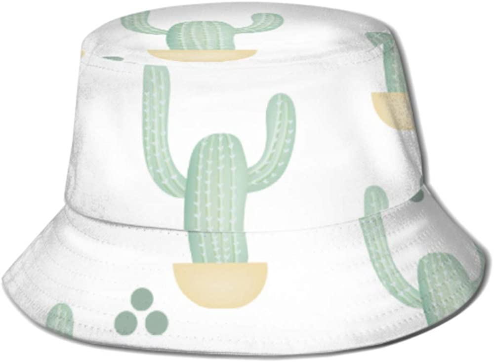 Special sale item Sun Cap Pattern Green Cactus Pot Ranking TOP3 Bucket Isolated Hat Men for