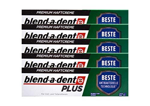 5x Blend a dent Plus Premium Haftcreme DUO SCHUTZ Minze 40g