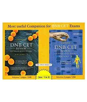 DNB CET Review : For Primary and Post Diploma - Volume 1 & 2 3rd Edition