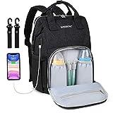 Baby Wickelrucksack Wickeltasche mit USB-Ladeanschluss Oxford Große Kapazität Babyrucksack Kein Formaldehyd Reiserucksack für Unterwegs