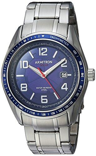 Armitron Reloj analógico para Hombres de Cuarzo con Correa en Acero Inoxidable 20/5252NVSV