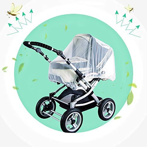 WIKEA kinderwagen muggennet voor kinderwagen, kinderwagen, buggy, draagtas en reisbed, wasbaar en duurzaam, hoogwaardig insectenwerend net met fijn mesh