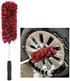 clean world Synthetic Wool Alloy Wheel Brush, No Metal Wheel and Rim Detailing