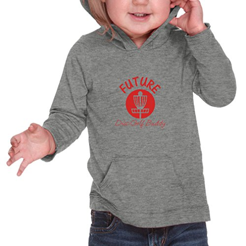 Future Disc Golf Buddy Infants Jersey Raw Edge Hoodie Heather Gray 12 Months
