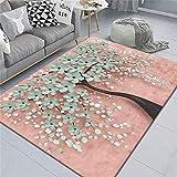 alfombras Baratas Alfombra Rosa, Piso antifatiga, Alfombra Antideslizante antiestática Alfombra de Dormitorio -Rosado_El 180x280cm