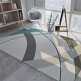 Kunsen Cuadro Decoracion habitacion alfombras habitacion Matrimonio Alfombra de salón Rectangular Gris Lisa, cómoda y Resistente al Desgaste cojin Suelo Grande 80X120CM 2ft 7.5' X3ft 11.2'