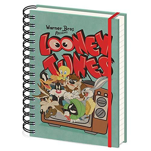 Looney Tunes - Taccuino A5 spirali (Retro TV)