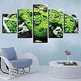 BHJIO 5 Piezas Cuadros Modernos Impresión De Imagen Artística Digitalizada Lienzo Decorativo para Tu Salón O Dormitorio Hul 17 - Película Regalo 150 X 80 Cm.