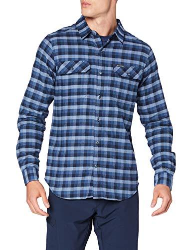 Columbia Flare Gun, Camisa de pana para hombre, Azul (Night Tide Grid Plaid), S
