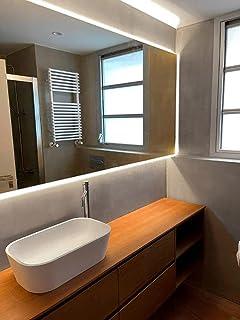 Espejo de Baño Iluminación Led 60x100 ESTEL Horizontal. Espejo de Baño, Aseo, Recibidor, Dormitorio o Salón. Espejo de Par...