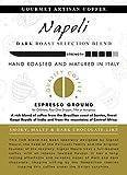 AROMISTICO | Rich Strong Gourmet Dark Roast | Premium Italian Espresso Ground Coffee | Napoli Blend | for Espresso Machines and Reusable Capsules | Smoky, MALTY and Dark Chocolate-Like