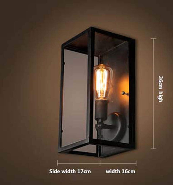 DSHBB Retro Wandleuchte, Wandleuchte, Moderne Einfachheit-Wandleuchte, Einfache Kreative Nachttischlampe Für Schlafzimmer, Balkon, Kaffeestube-Dekoration E27