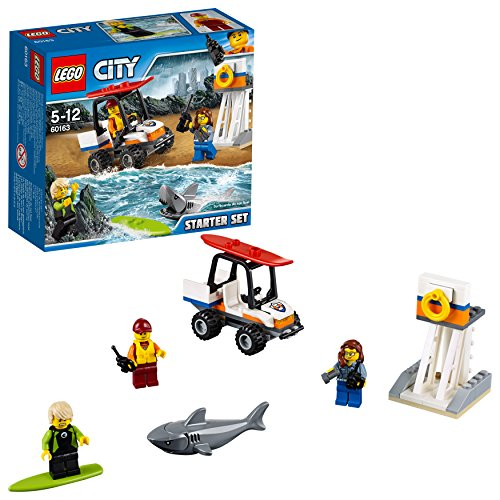 LEGO- City Starter Set Guardia Costiera Costruzioni Piccole Gioco Bambina, Multicolore, 60163