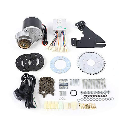 250W 350W 450W Electric Bike Conversion Kit for Common Bike Left Chain Drive Convert Bicycles into Electric Vehicles Bicycle E-bike Environmrntally DIY Twist Thumb Kit (350W 24V Thumb Throttle)