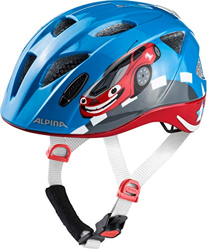 Alpina Kinder Radhelm Ximo Flash Fahrradhelm, Red Car, 49-54 cm