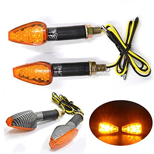 BJ Global pour moto universel Long Transparent Triangle boîtier Super Bright 14 LED Tour Signal LED Pour Clignotant