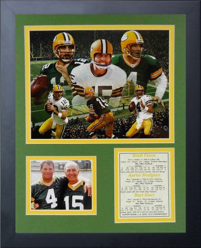 Brett Favre and Dan Marino Green Bay Packers Miami Dolphins NFL Framed 8x10 Photograph Before the Game