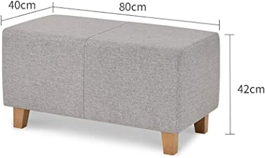 Rectangular Ottoman Bench Breathable Cotton Padded Sofa Stool Bedroom Bed End Stool Clothing Store Fitting Room Rest Change S