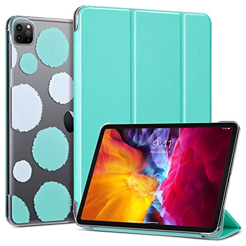 ULAK iPad Pro 11 inch 2020/2018 Case, Slim Lightweight Smart Case with Auto Wake & Sleep Function Translucent Stand Cover Case for Apple iPad Pro 11'' 2020/2018 - Mint Green