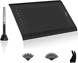 Huion H610PRO V2 Painting Drawing Pen Graphics Tablet with Battery-Free Stylus Tilt Function and 8192 Pressure Sensitivity and 8 Shortcut Keys