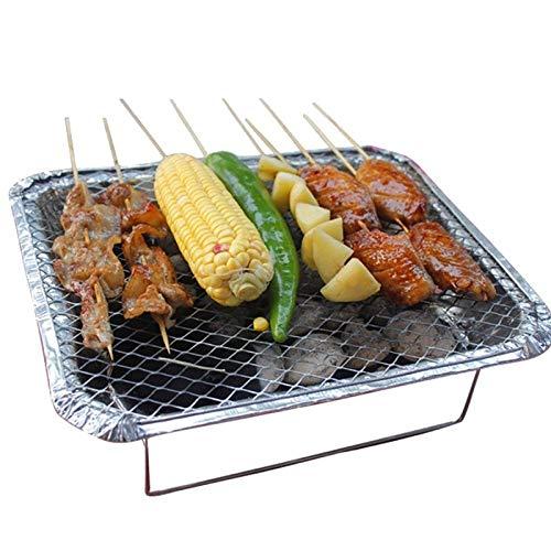 ZFLLF olding barbecue Instant Grills Outdoor BBQ Tools Wegwerp Grill Met Houtskool Aansteker Draagbare Camping Barbecue Goede Helper Keuken accessoire