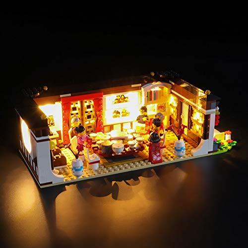Conjunto De Luces para (Chino Nuevo Year'S Víspera Dinner) Modelo De Construcción De Bloques - Kit De Luz LED Compatible con Lego 80101 - NO Incluido En El Modelo