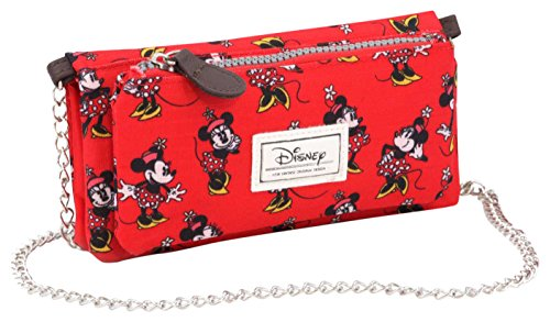 Disney Classic Minnie Cheerful Portamonete, 20 cm, Rosso (Rojo)