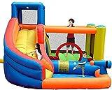 ZGYZ Castillos hinchables Castillo Inflable para Interiores y Exteriores Patio de Juegos Naughty Castle Cama de Rebote Grande Inflables Bouncy Ca, toboganes de Agua para jardín