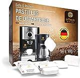 50pastilles de détartrage Coffeeano XL pour machines à café. Pastilles de détartrage compatibles avec les machines de toutes les marques. Ebook inclus