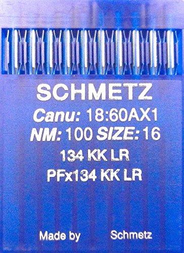10 Schmetz (ronde kolven) leren naaimachines naalden systeem 134 KK LR (industrie) NM 100 SIZE 16