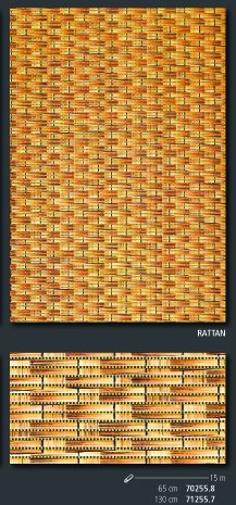 Friedola Bodenbelag Sympa Nova Premium Weichschaum Badematte Matte Rattan 130 breit Meterware