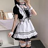 JJHR Negro Lindo Camareros Disfraces Maid Vestido Girls Mujer Amina Cosplay Traje Camarera Maid Fiesta Etapa Trajes de Halloween-Negro_XL