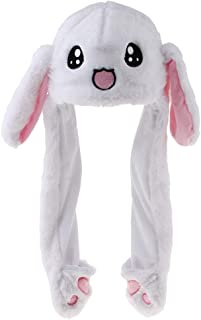 Baoblaze Bunny Hat, Cute Animal Hat, Plush Hat, The Ear Can Move Up and Down