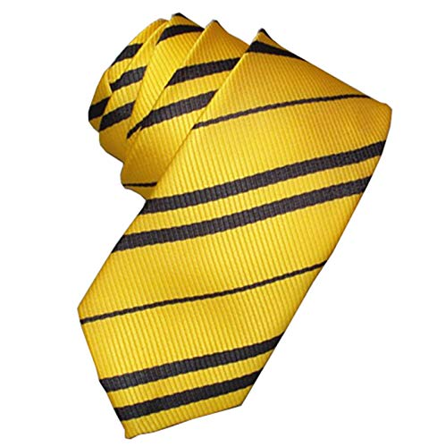 Tie Costume Striped Necktie Halloween Cosplay Party Supplies Accessories for Kids and Adults (Yellow)