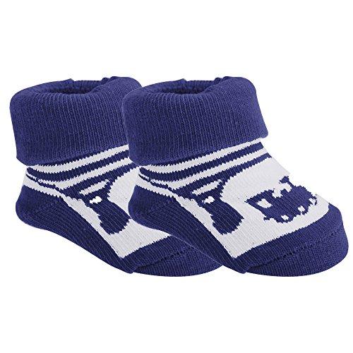 Universaltextilien Baby Jungen Socken mit Zug-Motiv, 2 Paar (6-12 Monate) (Marineblau)