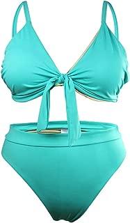 Julysand Women's Plus Size Bikini Set Two Piece Sexy Tropical Print Swimsuit