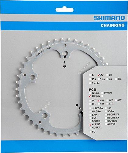 Shimano Y-1PB45000 Kettenblatt, Silber, 45 Zähne-130mm