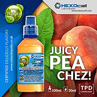 E LIQUID PARA VAPEAR - 30ml Juicy Peachez (Duraznos maduros y menta) Shake and