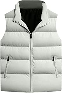 Cotton Lightweight Quilted Sleeveless Gilets Vest Sleeveless Men's Winter Vests Windproof Zippered Pockets Outerwear Outdo...