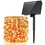 Speclux Solar String Lights with 8 Modes Remote Control, 99ft 300 LED Copper Wire Fairy LED String Lights, Solar Step Path Tree Lights for Indoor/Outdoor Patio, Lawn & Garden, Waterproof, Warm White