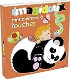 Imagidoux : Mes animaux à toucher – Livre d'éveil avec 20 matières et plus de 80 mots – À partir de 1 an