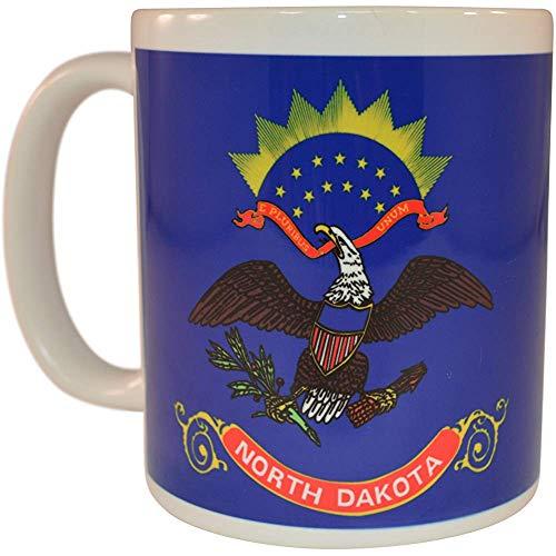 Taza de café de la bandera del estado de Dakota del Norte Taza de la novedad Gran regalo ND