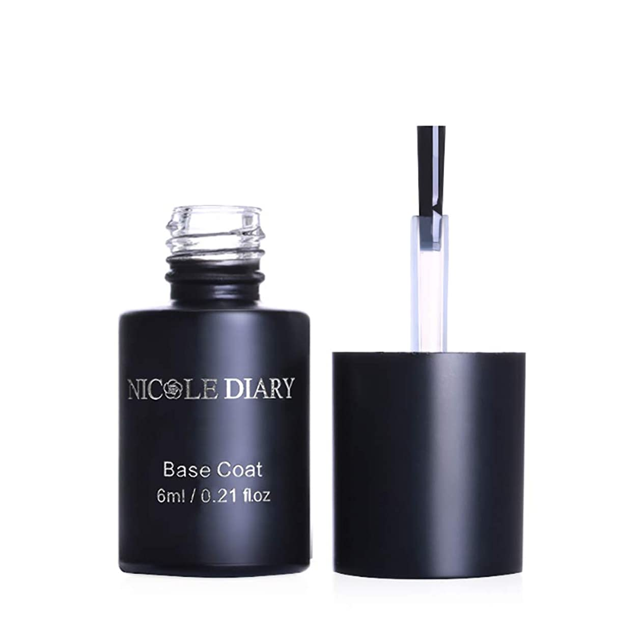 NICOLE DIARY はがせるベースジェル ピールオフ ベースコート 6ml UV/LED対応 リムーバー不要 はがせるネイル ジェルネイル [並行輸入品]