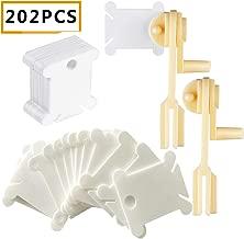Tangger 100 PCS Soporte de Bobinas Pinzas de Pl/ástico Clips de Rosca Bobinas de Hilo Accesorios de Costura,5 Colores