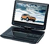 Reflexion DVD1013 tragbarer DVD-Player 10 Zoll (25,4 cm) mit hoher Auflösung (1.024 x 600) DVB-T Tuner und Kfz-Zubehör (USB, SD, HD-Panel, Anti-Schock, Li-Polymer Akku, 12 Volt Adapter und Haltegurte)