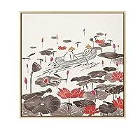 新しい中国風大麦リッチー収穫風景キャンバス絵画特別ポスター壁アート写真リビングルーム研究装飾40×60フレームなし