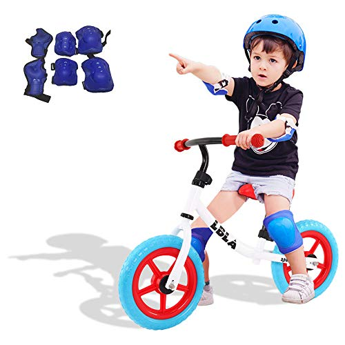 LBLA Kids Balance Bike with Free Protection Kit,12 Inch Lightweight No Pedal Toddlers Bike Walking Bicycle for Children Ages 2-6 Years Old Boys