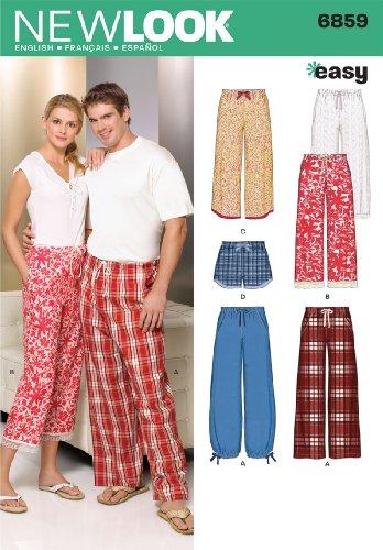 New Look NL6859 Patron de Couture Pantalon + Pantacourt + Short 22 x 15 cm